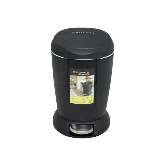 صورة Black - Plastic Paddle with Inner Bucket Square Lid -  23 x 23 x 40 Cm