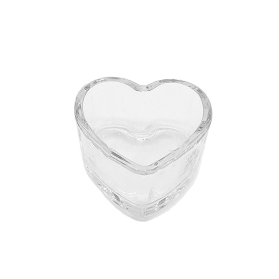 Picture of Clear Glass Heart Shaped Bowl - 9 x 6 Cm