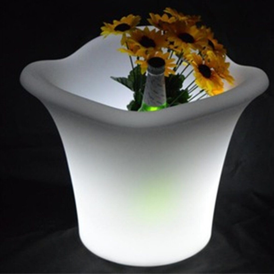 Picture of Glowing LED Flower Pot - 34 x 27 Cm
