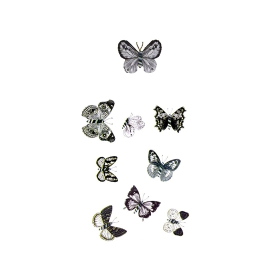 صورة 9 PCS 6D Butterfly Wall Stickers Crafts Butterflies DIY Art Decor Home Room Decorations