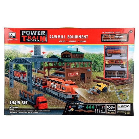 Picture of Power Train Turbos Sawmill Equipment Train Set - 126 x 161 Cm