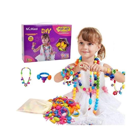 صورة لعبة القطع الخرز والمجوهرات التعليمية الحرفية للفتيات