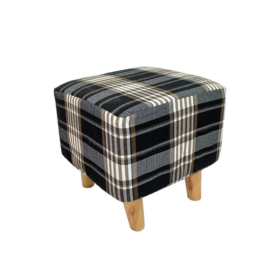 Picture of Printed Ottoman Footstool Pouffe - 35 x 35 Cm