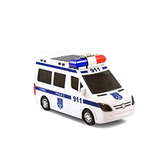 Picture of White 911 Police Car Toy - 20 x 8 x 10 Cm