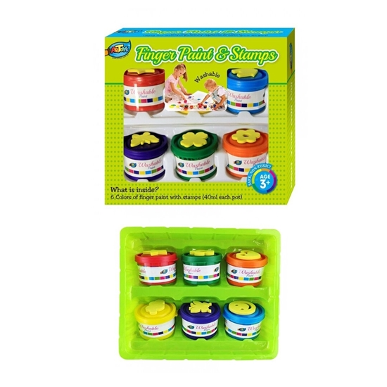Picture of 6 PCS FINGER PAINT & STAMPS