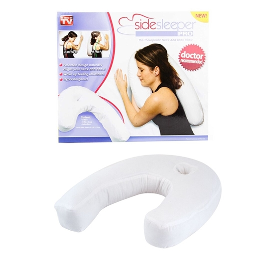 صورة Health Care Pillow Side Sleeper Pillows Neck & Back Pillow Hold Neck Spine Protection Polyester