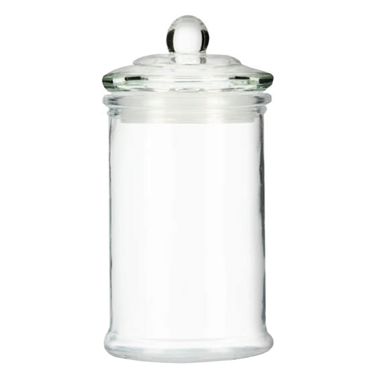 صورة Glass Storage Canister, Clear Jar, With Clear Glass Lid