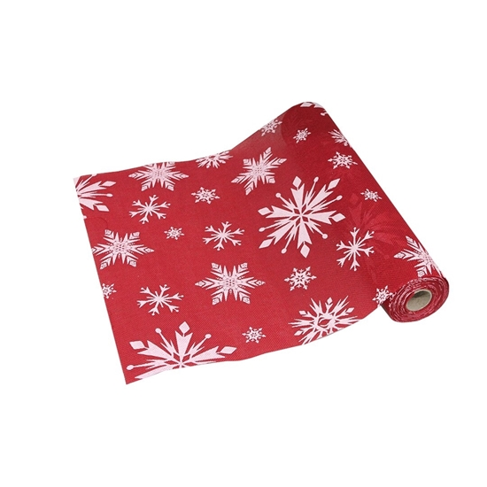 Picture of Home Fashions Snowflake Embroidered Christmas Table Runner CM 36X500cm