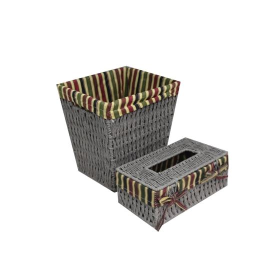 صورة Basket & Tissue Box - 21 x 24 x 25 Cm