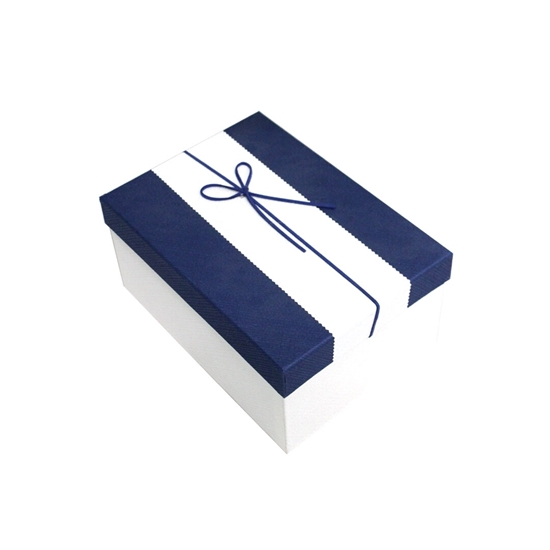 Picture of Blue & White Gift Box - 25 x 18 x 12 Cm