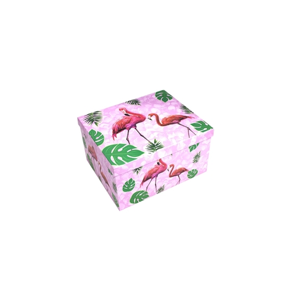Picture of Flamingo Gift Box - 26 x 21 x 14 Cm