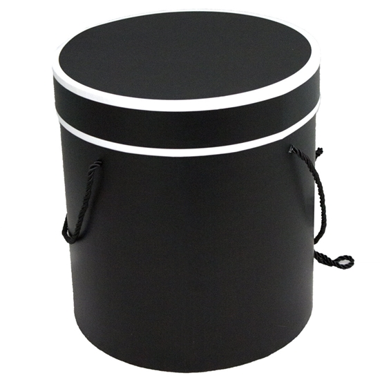 Picture of Black Cylinder Gift Box - 25 x 24 Cm