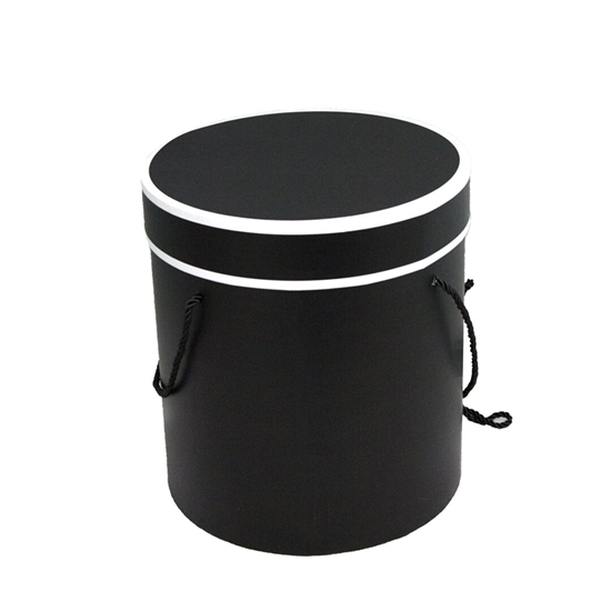 Picture of Black Cylinder Gift Box - 21 x 20 Cm