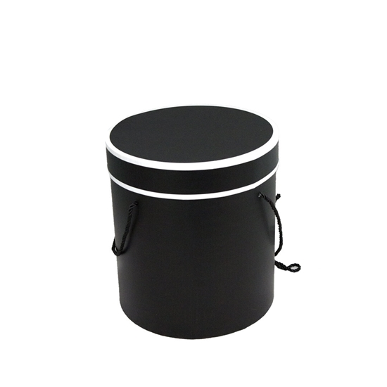 Picture of Black Cylinder Gift Box - 18 x 17 Cm