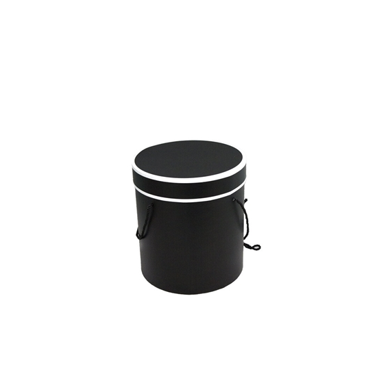 Picture of Black Cylinder Gift Box - 14 x 13 Cm
