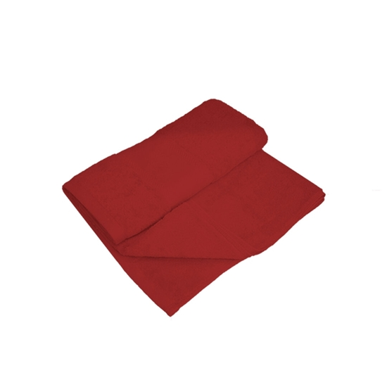 Picture of Bath Towel - Dark Red - 100% Cotton - 70 x 140 Cm
