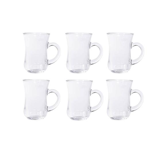 صورة Clear Glass Tea Set 6 PCs -  9 x 6.5 Cm