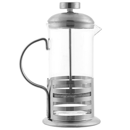 Picture of Glass Stainless Steel French Press Coffee Maker - 22 x 12 Cm