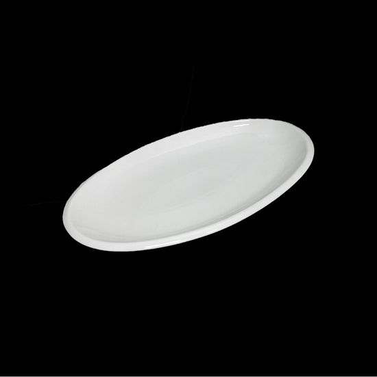 Picture of Porcelain Oval Platters/Serving Plates, Off-White, Stackable, Great For Displaying All Your Needs