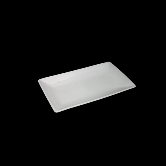 صورة طبق تقديم - أبيض 35 × 20 سم