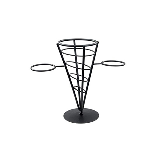 Picture of French fries holder & 2 sauce holder - 23.5 Cm