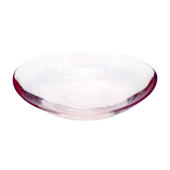Picture of Oval Glass Bowl with Red Color - 43 x 8.5 Cm