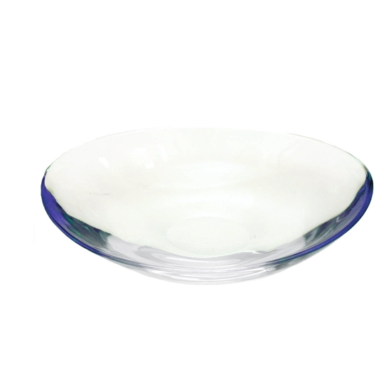 Picture of Oval Glass Bowl with Blue Color - 43 x 8.5 Cm