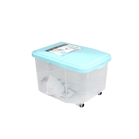 Picture of Rice Bucket Storage Rice Box Multicolor Rice Cylinder Storage And Storage Flour Kitchen With Lid