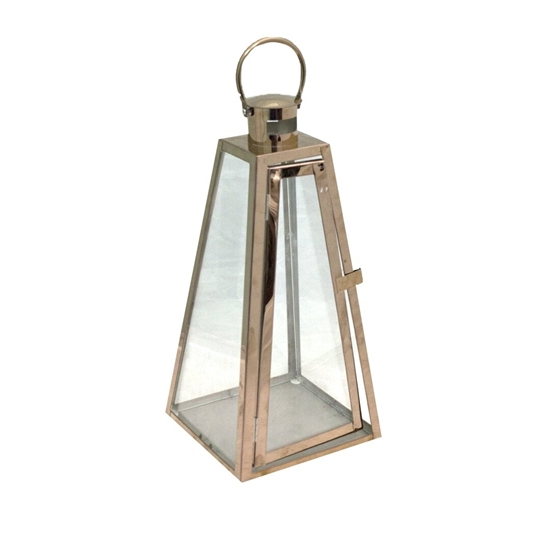 Picture of Bronze - Metal & Glass Lantern - 17 x 43 Cm