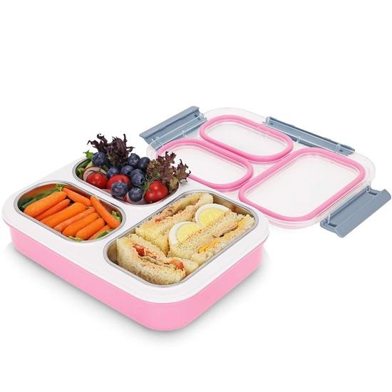 صورة صندوق غداء بتركيبات داخلية - 17 × 20 × 7 سم