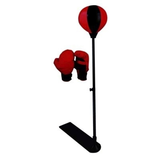 Picture of Best Choice Products Kids Adjustable Standing Boxing Punching Ball Set w/ Advanced Spring, Metal Stand, Gloves - Red