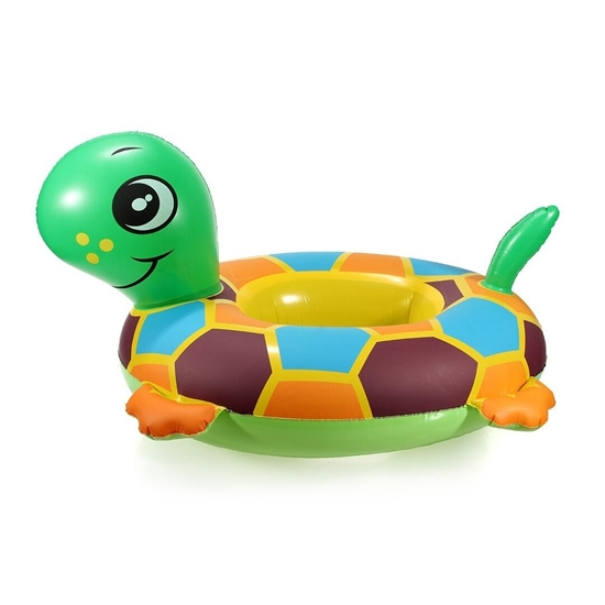 صورة Baby Kids Toddler Baby Float Inflatable Swimming Swim Ring Float Seat Boat Pool Bath Safety (Turtle)