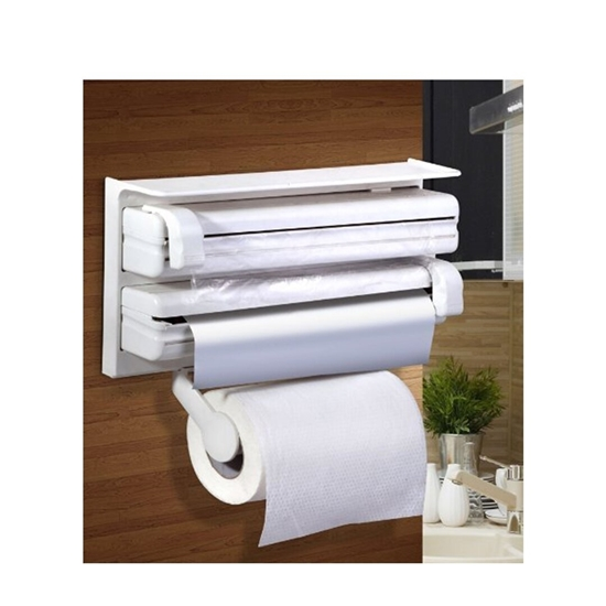 Picture of Kitchen Triple Paper Dispenser Kitchen Tissue roll Holder Kitchen Tissue Paper Holder