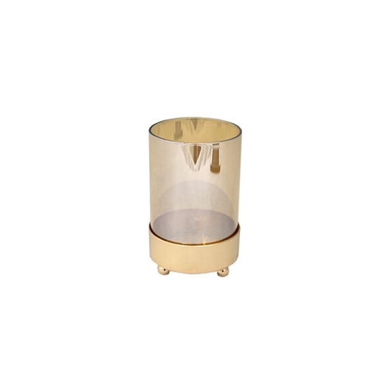 Picture of Glass Shade with Base Candle Holder - 13 x 7.5 Cm