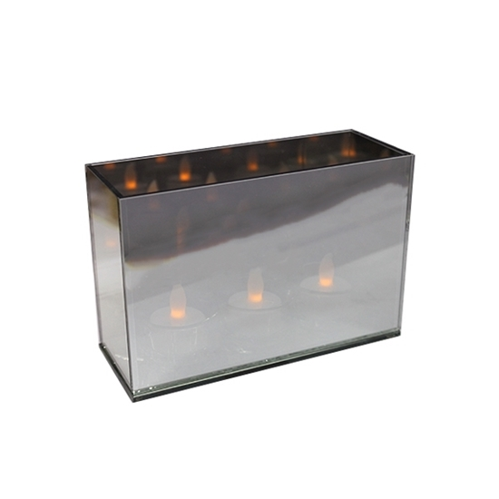 صورة Glass Tealight Holder - 18 x 12 x 7 Cm