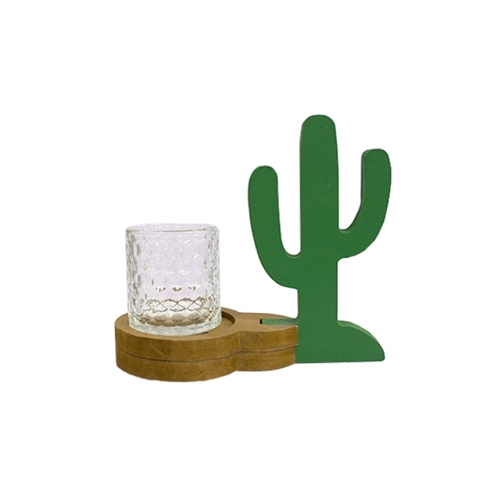 Picture of Cactus Candle Holder - 19 x 18 Cm
