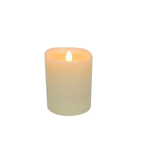 صورة Led Battery Candle Moving Flame - 13.5 x 10 Cm