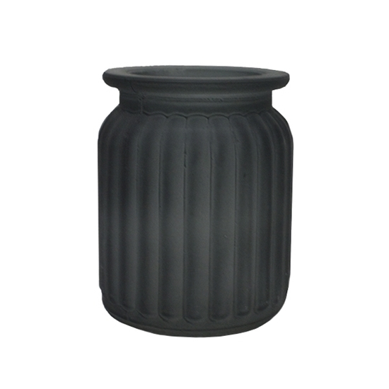 Picture of Black - Frosted Glass Vase - 9 x 7 Cm