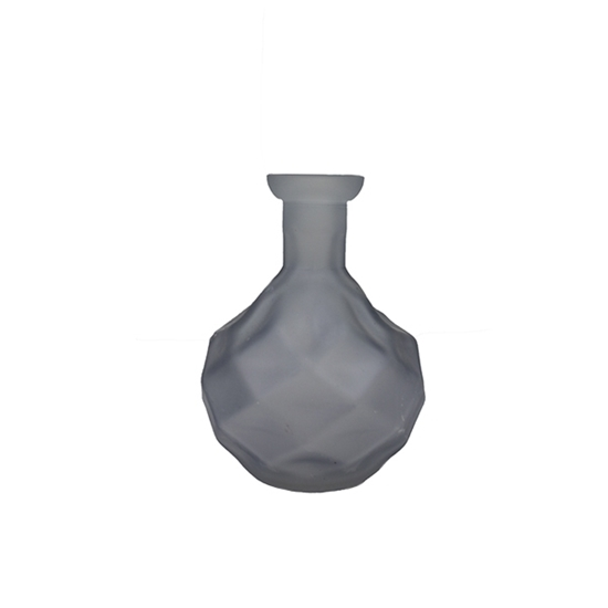 Picture of Blue - Frosted Glass Vase - 17 x 6 Cm