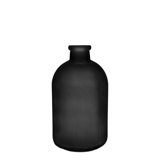 Picture of Black - Frosted Glass Vase - 17 x 5 Cm
