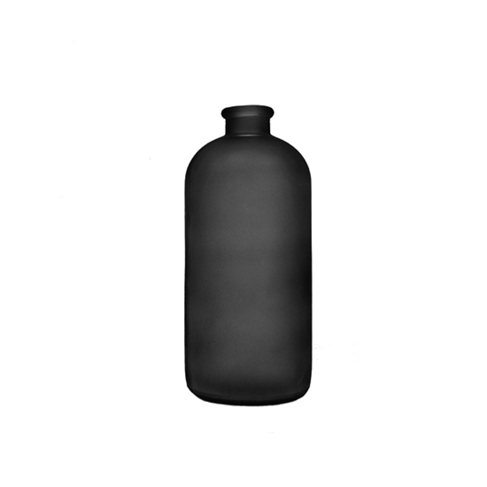 Picture of Black - Frosted Glass Vase - 24 x 4.5 Cm