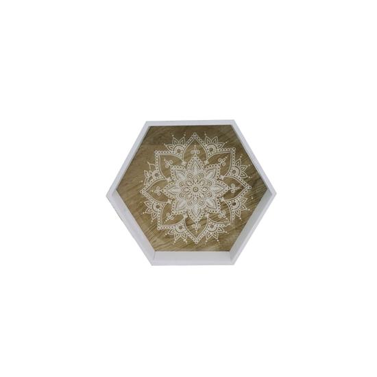 صورة Small Wooden Tray - 28 x 24.5 x 5.5 Cm