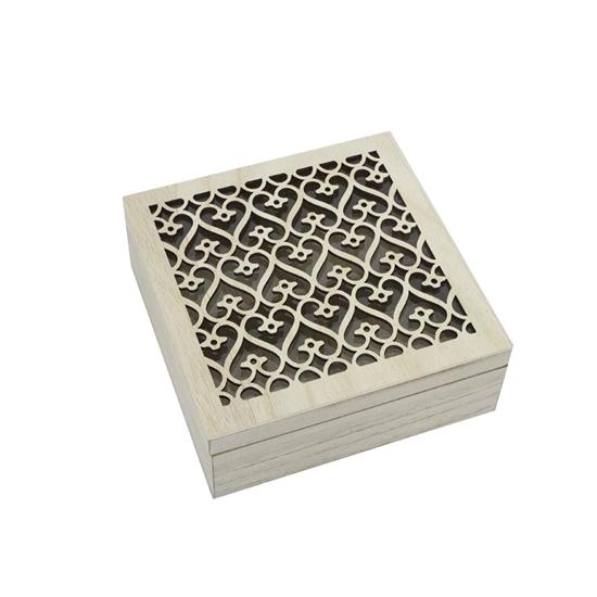 صورة Wooden Tea Box - 18 x 18 Cm