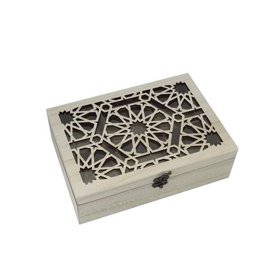 صورة Wooden Tea Box - 24 x 17 Cm