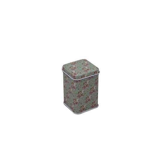 صورة Green Tin with Lid -  4 x 7 Cm
