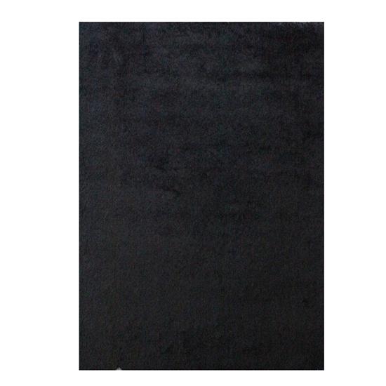 صورة سجّادة وبر طويل باللون الأسود قياس 140 × 200 سم