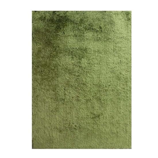 صورة سجّادة وبر طويل باللون الأخضر قياس 160 × 230 سم
