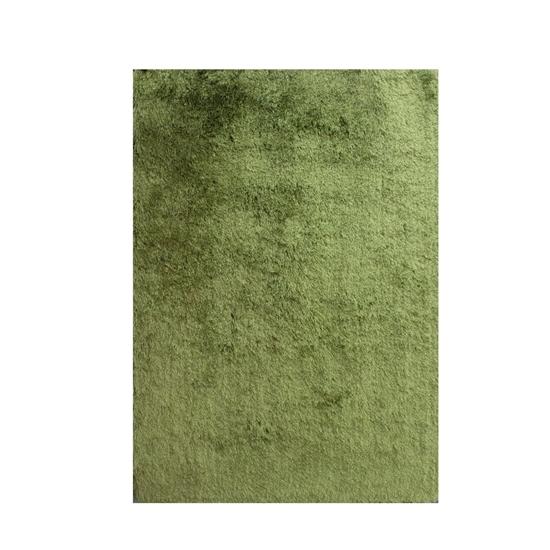 صورة سجّادة وبر طويل باللون الأخضر قياس 140 × 200 سم