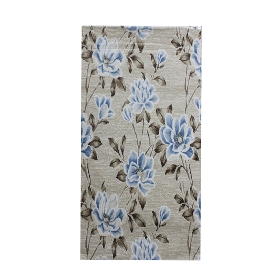 Picture of Blue & Beige Printed Carpet - 80 x 150 Cm