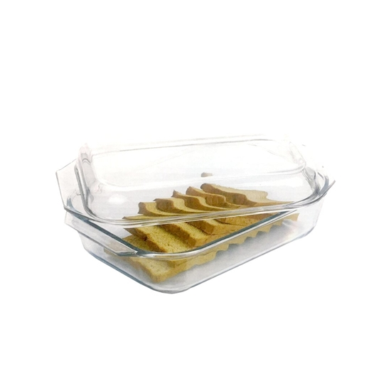 Picture of Rectangular microwave safe glass borosilicate baking dishes, High Quality Glass Baking Pan, Pyrex glassware